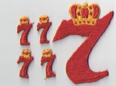 Seagrams 7 Crown Royal Vintage Embroidered Patches 5 Pieces