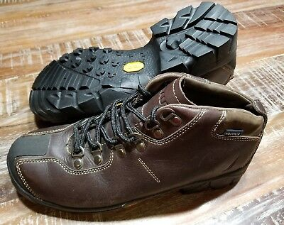 NAUTICA Brown Leather Gore-Tex Vibram Hiking Ankle Boots Shoes Men s US 9 4b3c46e99