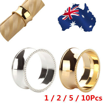 AU! Alloy Gold Silver Napkin Ring Serviette Buckle Holder Wedding Party Supplies