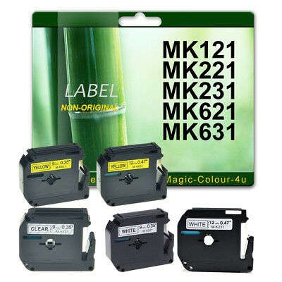 Compatible Brother MK221 MK231 MK621 MK631 PT-80 PT-85 PT-65 PT-90 P-Touch Tape