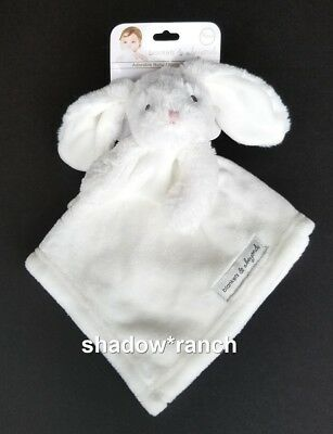 NWT Blankets & Beyond All White Bunny Rabbit Security Nunu Lovey Plush Pink Nose
