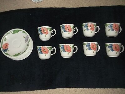 Villeroy & Boch Amapola Cup & Saucer W. Germany Vintage Coffee Cup & saucer