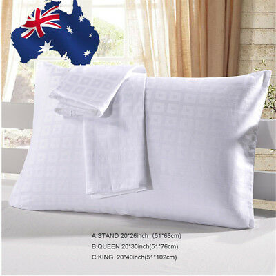 2Pcs Pillow Cases 100% Egyptian Cotton Pillowcase Housewife Hotel Quality Luxury