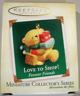 2005 Miniature Love To Shop # 2 Forever Friends Collector's Series Ornament
