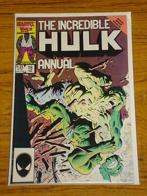 Incredible Hulk Annual #15 Vol1 Marvel Comi Byrne Story 1986