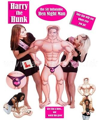5ft Inflatable Hunk Man Muscles Hen Night Hen Party Hen night Novelty Props Game
