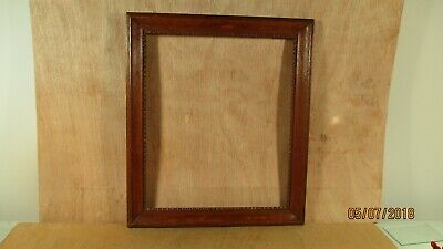 "Victorian Mahogany w Ornate Motif Wood Picture Frame  14 "" W x 16"" H"