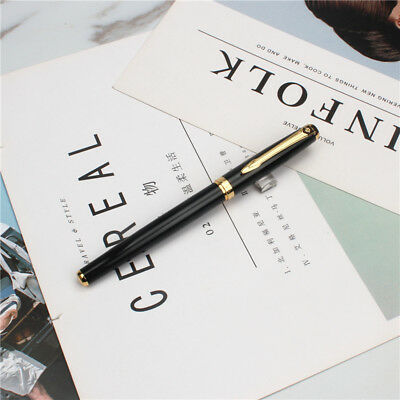 NEW Black With Golden Roller Ball Pen free shipping