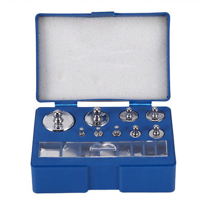 17Pcs  Blue Box Silver Grams Precision Calibration Weight Digital Scale