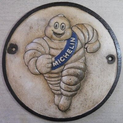 Michelin Man Running Tire Shop Advertising Cast Iron Sign Gas Station