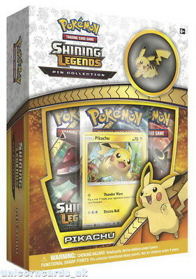 Pokemon TCG: Shining Legends Pin Collection - Pikachu :: Brand New And Sealed!