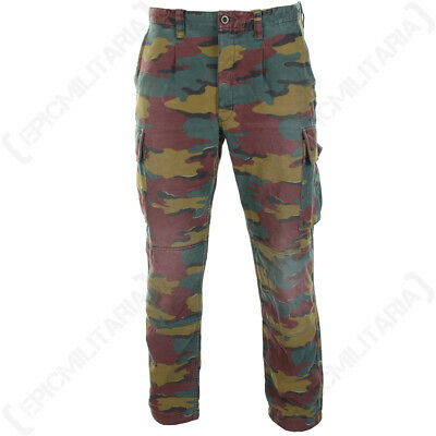Original Belgian Army M90 Trousers - Military Surplus Jigsaw Camo Pants Soldier