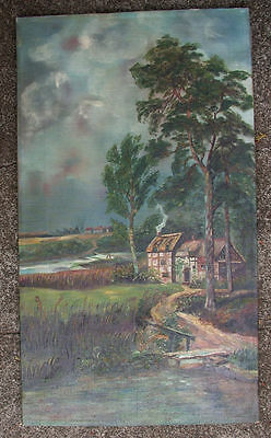 1939 american landscape, oil on  canvas,
