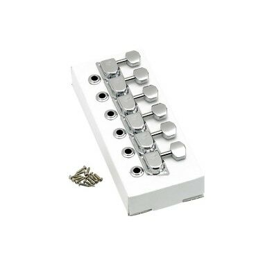 "Fender® 70s ""F"" Style Stratocaster®/Telecaster® Tuning Machines Chrome"