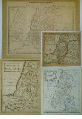Vintage Antique 4 Maps 18th century Holy Land Palestine Israel Map cartography