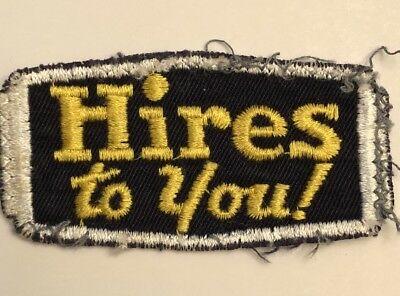 "Vintage HIRES ROOT BEER Soda Uniform Patch Hires To You 3"" Dark Blue"