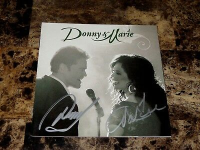 Donny & Marie Osmond Rare Authentic Hand Signed CD The Osmonds Classic Pop + COA