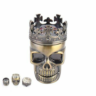 Metal King Skull Herbal Herb Bullet Shape Tobacco Grinder Smoke Grinders Crusher