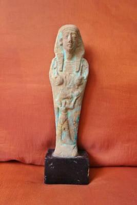 Large RARE Antique Egyptian Ushabti of Ancient Middle Kingdom Funerary Statue