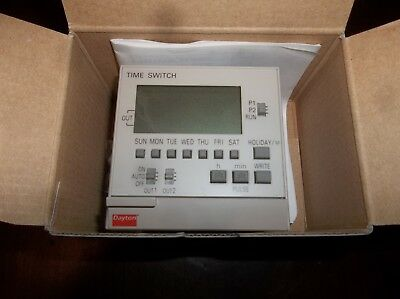 Electronic Time Switch SPST, 7 Day, 100-240V, 15A, Panel Mount 2VJ57