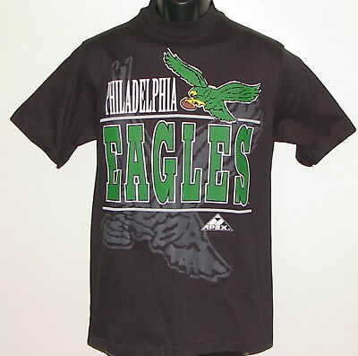 Vintage 90s Philadelphia EAGLES Apex One T-Shirt NWT NEW Old Stock YL (Adult SM)