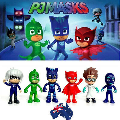 AU 3/6Pcs Pj Masks Catboy Owlette Gekko Romeo Night Ninja Luna Girl Figure Toy