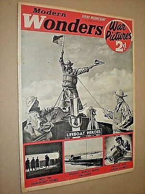 MODERN WONDERS WAR PICTURES MAGAZINE. JANUARY 13th 1940