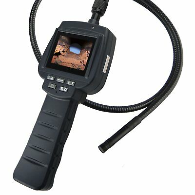 """1M Cable Video Inspection Camera Industrial Snake Scope IP67, 2.4"""" HD Endoscope"""