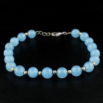 Earth Mined 277.50 Cts White Agate Untreated Beads Hand Made Bracelet On Sale