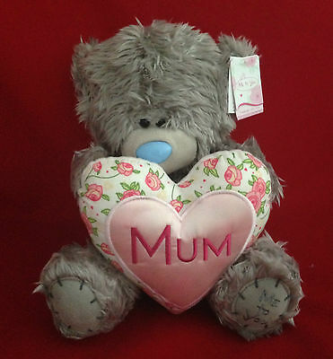 "Love You Mum Me To You Bear Tatty Teddy 10"" Mum Floral Pink Heart Mothers Gift"