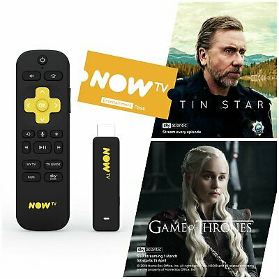 NOW TV Smart Stick Full HD 1080p Voice Search + 2 Month Sky Entertainment Pass