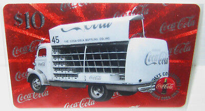 $10 Drink Coca Cola 1945 Phone Card Truck #5  Micro-lined Sprint US 1996 VHTF