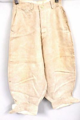 Antique  Knickers Linen Natural 1920s XS Pants Kids Size Art Deco Vintage Knee