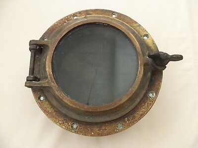 Old Antique Brass Port Hole Porthole Boat Ship Window Nautical Decor Opens Ship