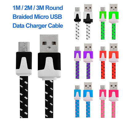 Micro USB Fast Charging Phone Data Charger Cable Lead for Mobile Phone 1m 2m 3m