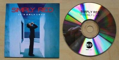 Simply Red It's Only Love (Advance) Cd 19 Track Advance Promo With Wrap Around I