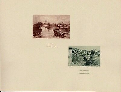 Abn Co Souvenir Card Intaglios Chinese Country View & Village Scene In Loochow