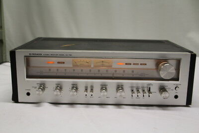Pioneer Stereo Receiver Model SX-750 Black Silver Face Vintage