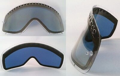 GOGGLE-SHOP MOTOCROSS MX ENDURO DUAL VENTED BLUE TINTED LENS fit OAKLEY O-FRAME