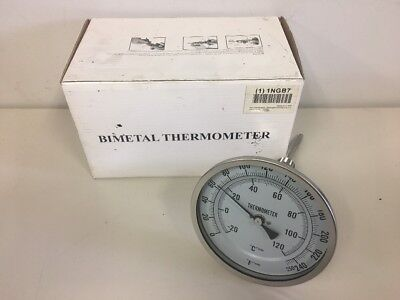 1NGB7 Bimetal Thermom, 5 In Dial, 0 to 250F 1NGB7 THERMOMETER GRANGER