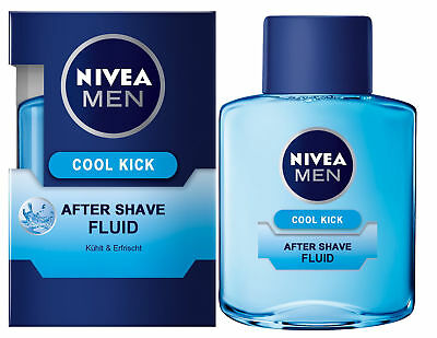 Nivea Cool Kick After Shave Fluid  Kühlendes Rasierwasser 100 ml Maskulin