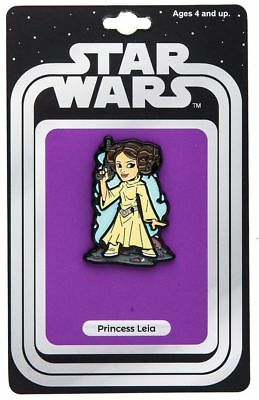 Classic Star Wars Princess Leia Figure Enamel Metal Pin 2017 NY Comic Con SEALED
