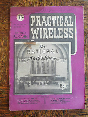 Practical Wireless Magazine #539 September 1951 National Radio Show Vintage Old