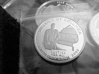 2009 S Silver District Of Columbia  Quarter From Silver Proof Set
