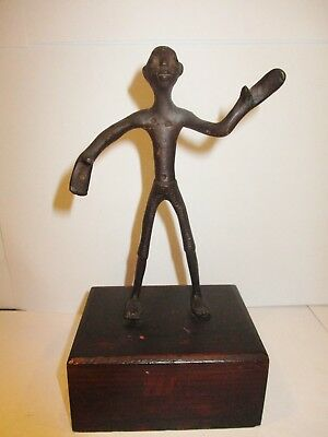 Mcm Bronze / Iron Etruscan Male Figure Sculpture Antiquities Egyptian Roman