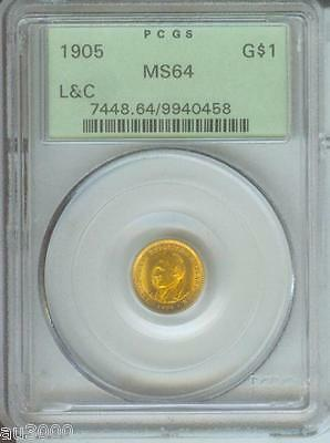 1905 Lewis & Clark L&c G$1 Pcgs Ms64 Ms-64 Ogh Old Green Holder !!