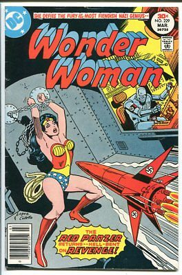 Wonder Woman #229 Red Panzer Nazi Cover Dc Comics 1977 Fn-