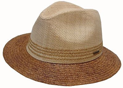 check out 9c493 a8ec3 Stetson Natural Straw Hat Hats Traveller Pike Creek Raffia 76 Trend New