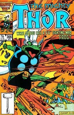 Thor (1st Series Journey Into Mystery) #366 1986 FN Stock Image