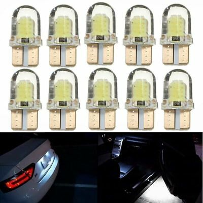 10x LED T10 194 W5W COB 8SMD CANBUS Silica Bright White License Light Bulbs OU